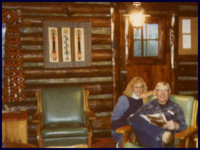 Author Patricia Gott and Glenn Fales at Rimrock Ranch.